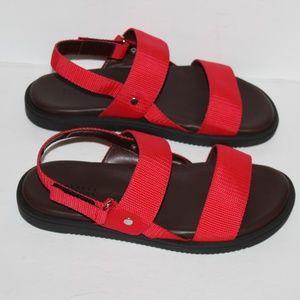 barney new york sandals red Men size 8